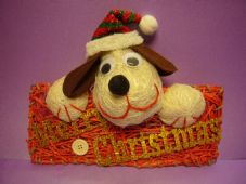 Merry Christmas Dog Sign